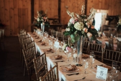 Centerpieces on Rectangular Tables
