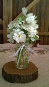 Rustic White Centerpiece
