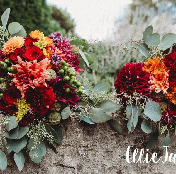 Fall wedding bouquets, from the Garden by the Gate florist.