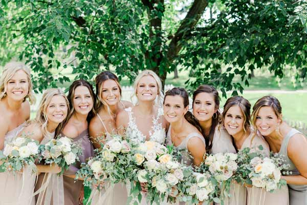 North Canton Wedding Flowers by Garden by the Gate: Location; Hoover Park, Photo: Andrew Smith PHotography