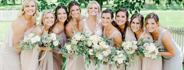 boho, organic, neutral wedding flowers by Garden by the Gate Floral Design